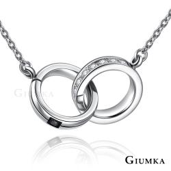 GIUMKA經典雙圈珠寶白鋼項鍊 依鍊系列-共10款