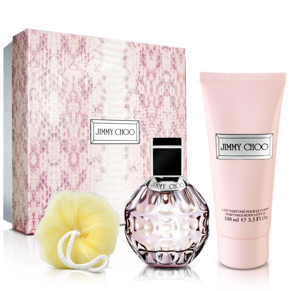 JIMMY CHOO 同名女性淡香水禮盒(淡香水60ml+身體乳100ml+沐浴球)