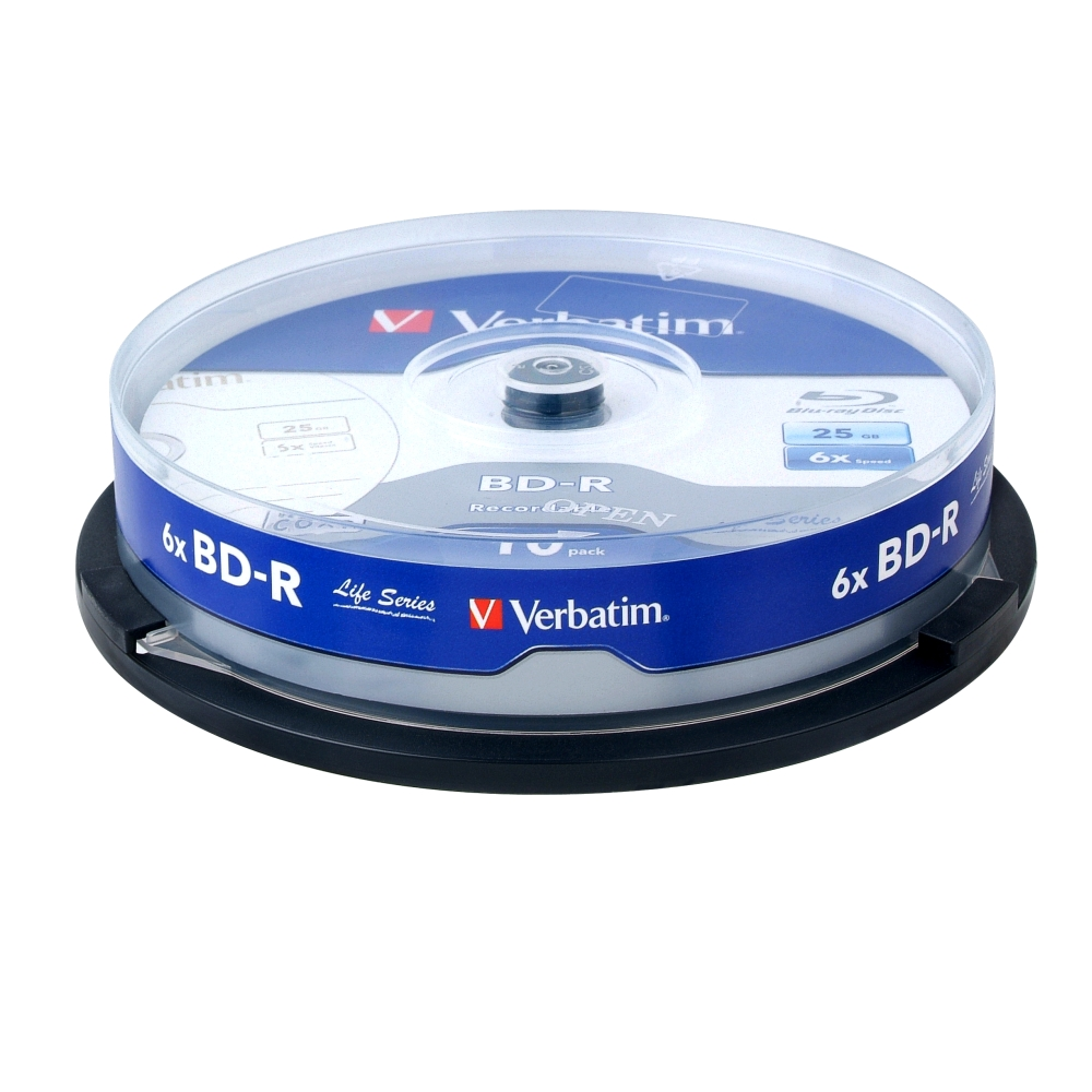 威寶 Life版  藍光 6X BD-R  25GB 桶裝 (10片)