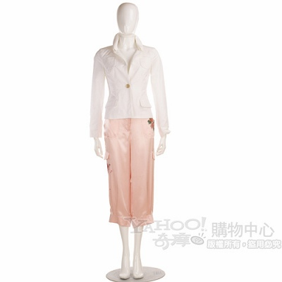 roccobarocco 粉色八分褲