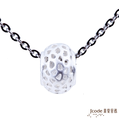 J code真愛密碼銀飾 幸福情網純銀墜子 送項鍊