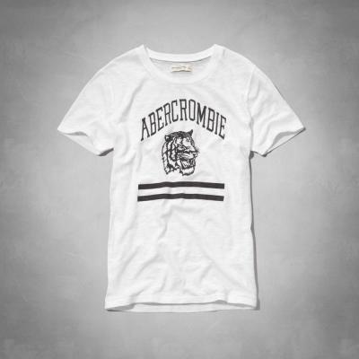 AF a&f Abercrombie & Fitch 女T恤 白色 0010