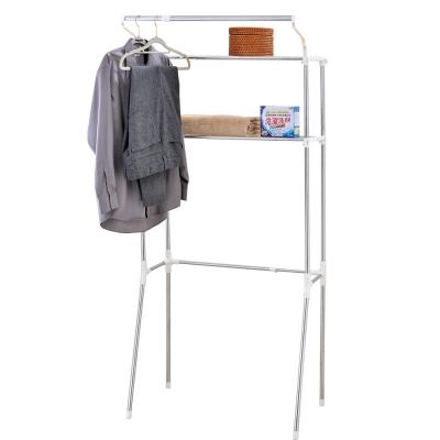 IKLOO宜酷屋 不鏽鋼伸縮式洗衣機置物架
