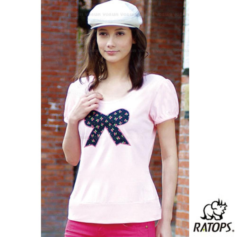 【瑞多仕-RATOPS】女 Coolmax 圓領素色上衣_DB7980 粉紅 V