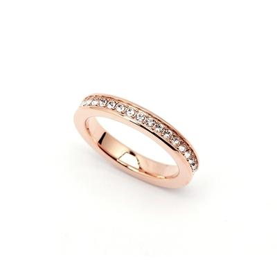 CK Calvin Klein  璀璨魅力風戒指-玫瑰金色