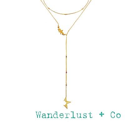 Wanderlust+Co 澳洲品牌 金星星Y字鍊 可調式繁星項鍊 NOVA LARIAT