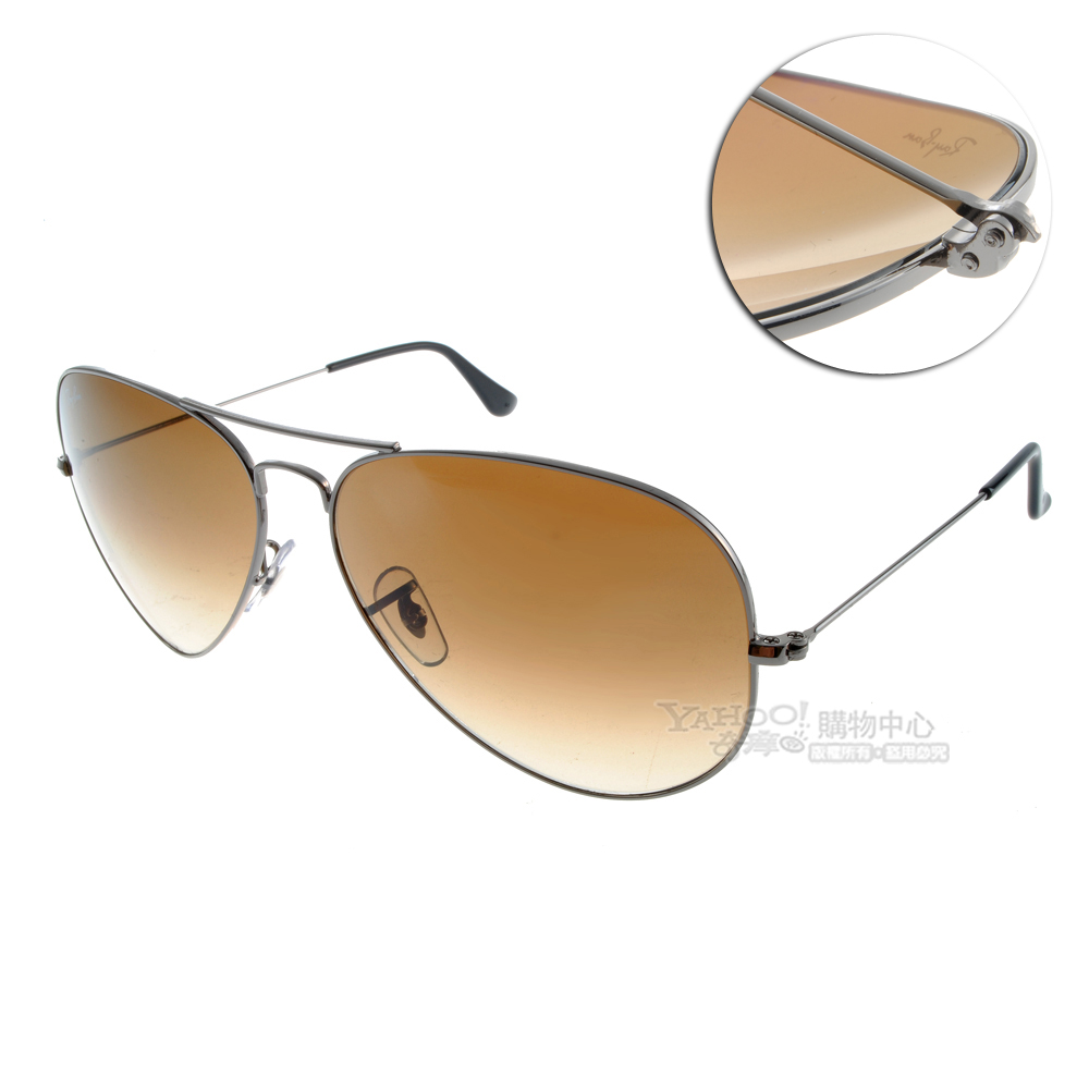 RAY BAN太陽眼鏡 經典品牌/銀-漸層棕色#RB3025 00451
