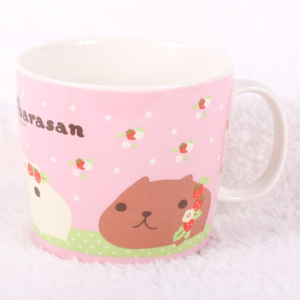 Kapibarasan 水豚君系列馬克杯(粉)