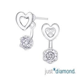 Just Diamond The Pledge系列18K金鑽石耳環