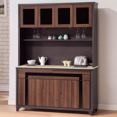 品家居 幻影5尺石面餐櫃組合-150x46x201cm-免組