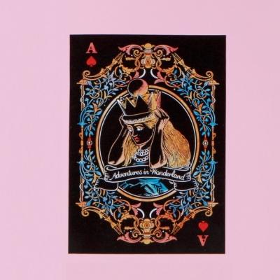 LAGO 愛麗絲手刮彩色明信片-Alice