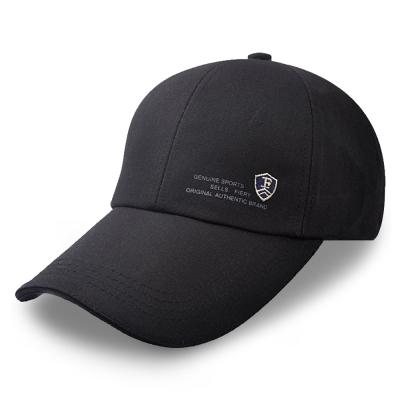 活力揚邑 防曬防紫外線防風戶外運動透氣鴨舌帽盾形F刺繡棒球帽-黑