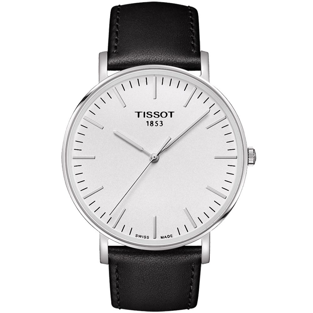 TISSOT EVERYTIME 雋永明朗大三針腕錶-銀/42mm