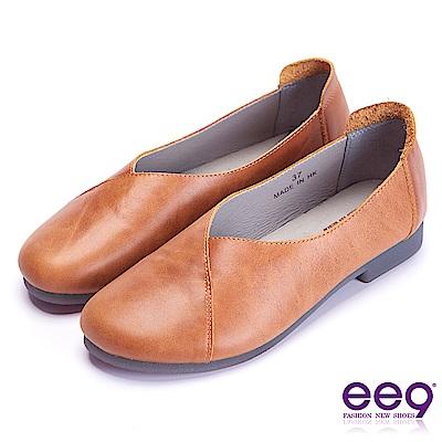 ee9 率性風采百搭超輕柔平底休閒便鞋 棕色