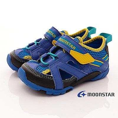日本月星頂級童鞋 透氣後穩定款 CON315藍(中小童段)