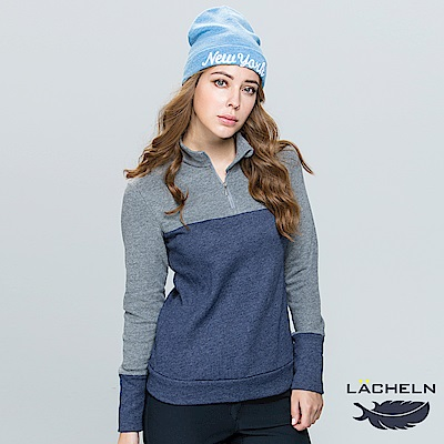 【LACHELN】拼接保暖立領衫-(L73WC18)