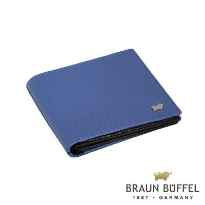 BRAUN BUFFEL - OSLO奧斯陸系列12卡中間翻皮夾 - 鳶尾藍