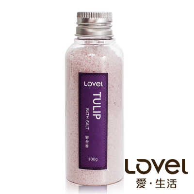 Lovel 天然井鹽/香氛沐浴鹽100g5入組(鬱金香)