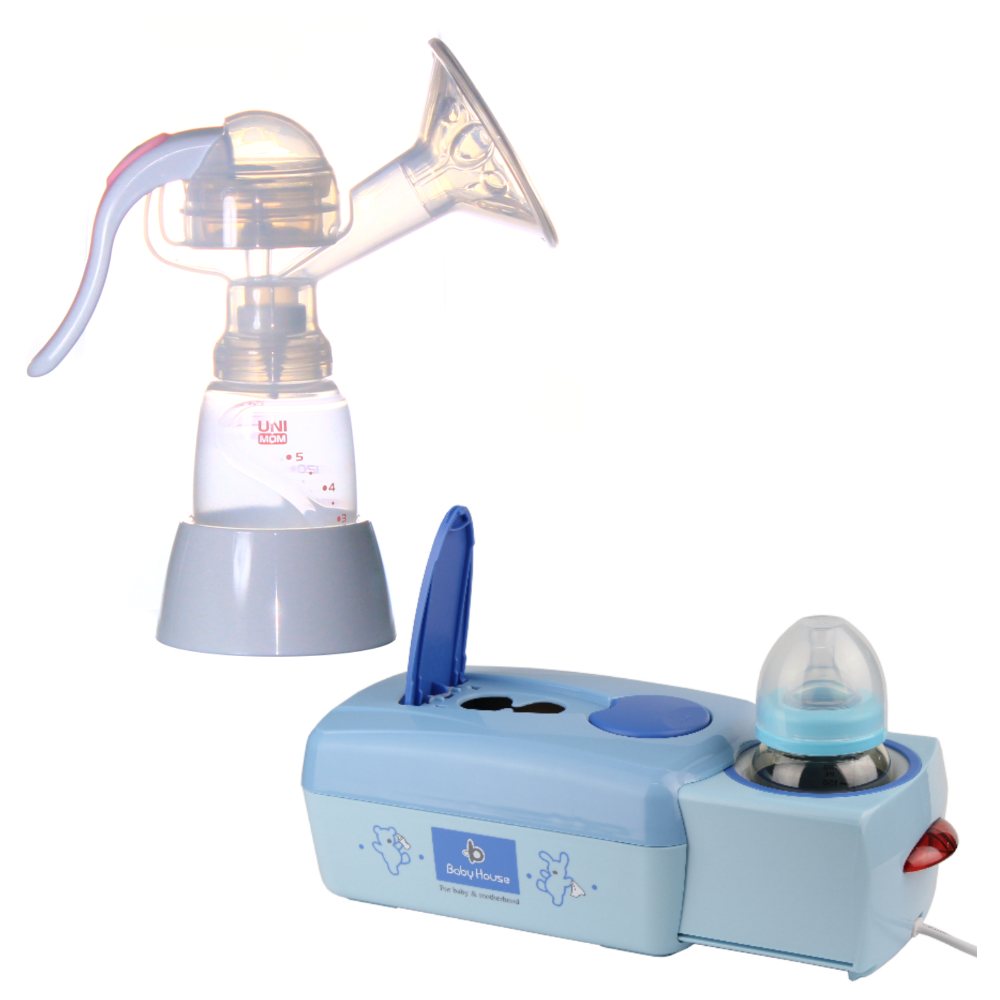 【Unimom】手動吸乳器+【babyhouse】濕巾.牛奶保溫機