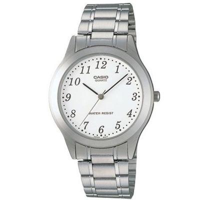 CASIO 經典時尚簡約風格指針腕錶(MTP-1128A-7B)白色數字面/36.4mm