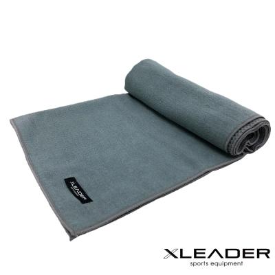 Leader X 超細纖維吸汗止滑瑜珈鋪巾 灰色 - 急