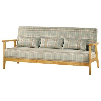 沙發 三人座 都克 實木布面沙發 品家居