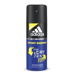 adidas愛迪達 男用長效制汗爽身噴霧(運動勁能)150ml