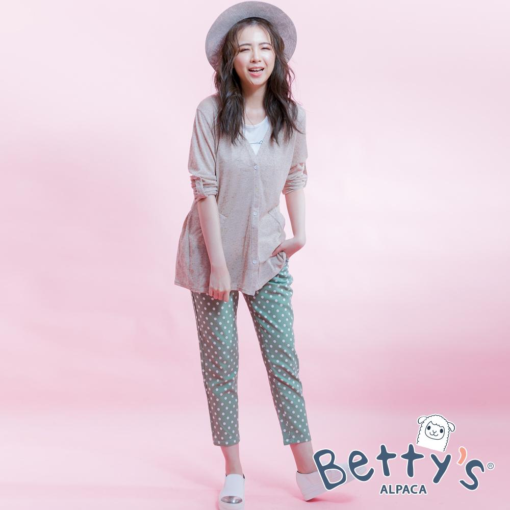 betty's貝蒂思 點點修身長褲(淺綠)