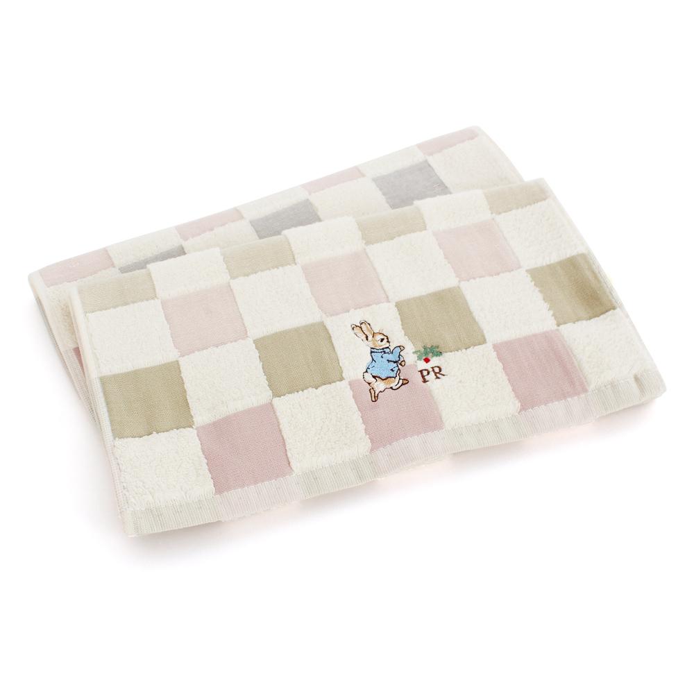 PeterRabbit彼得兔-田園格子無捻精繡雙面毛巾3入組(共2色)