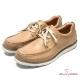 CUMAR 陽光型男 時尚馬克縫線休閒鞋-土黃色 product thumbnail 1