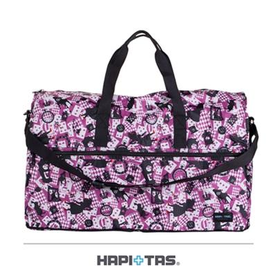 【HAPI+TAS】新版愛麗絲折疊旅行袋(大)-粉色