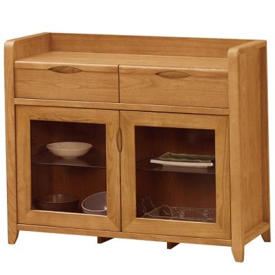 品家居查德3.3尺實木餐櫃下座-100x40x85cm-免組