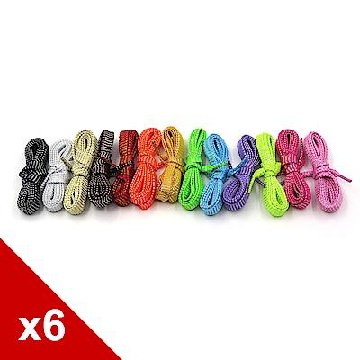 糊塗鞋匠 優質鞋材 G105 110cm中空螢光扁鞋帶 6雙