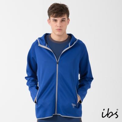 福利品 ibs軟殼吸排連帽外套-藍-男
