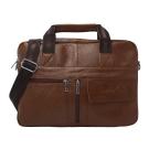 DRAKA達卡 - 斜背/側背/肩背/手拿 - 極度輕巧系列時尚真皮公事包咖啡色