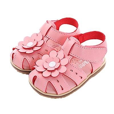 花朵魔鬼貼手工涼鞋 sk0364 魔法Baby