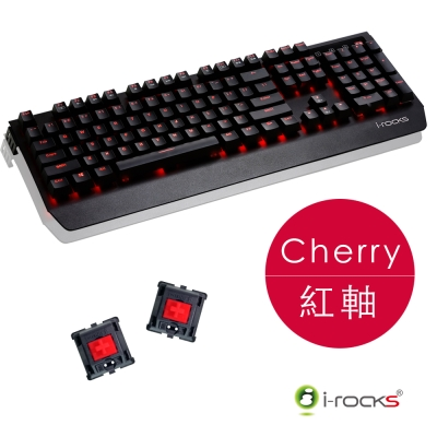 i-Rocks K60M 全背光金屬機械式鍵盤-Cherry紅軸