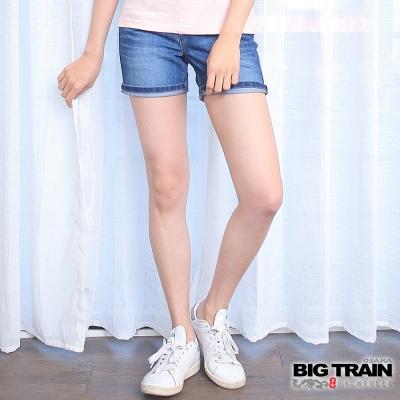 BIG TRAIN 夏日金魚短褲-女-中藍