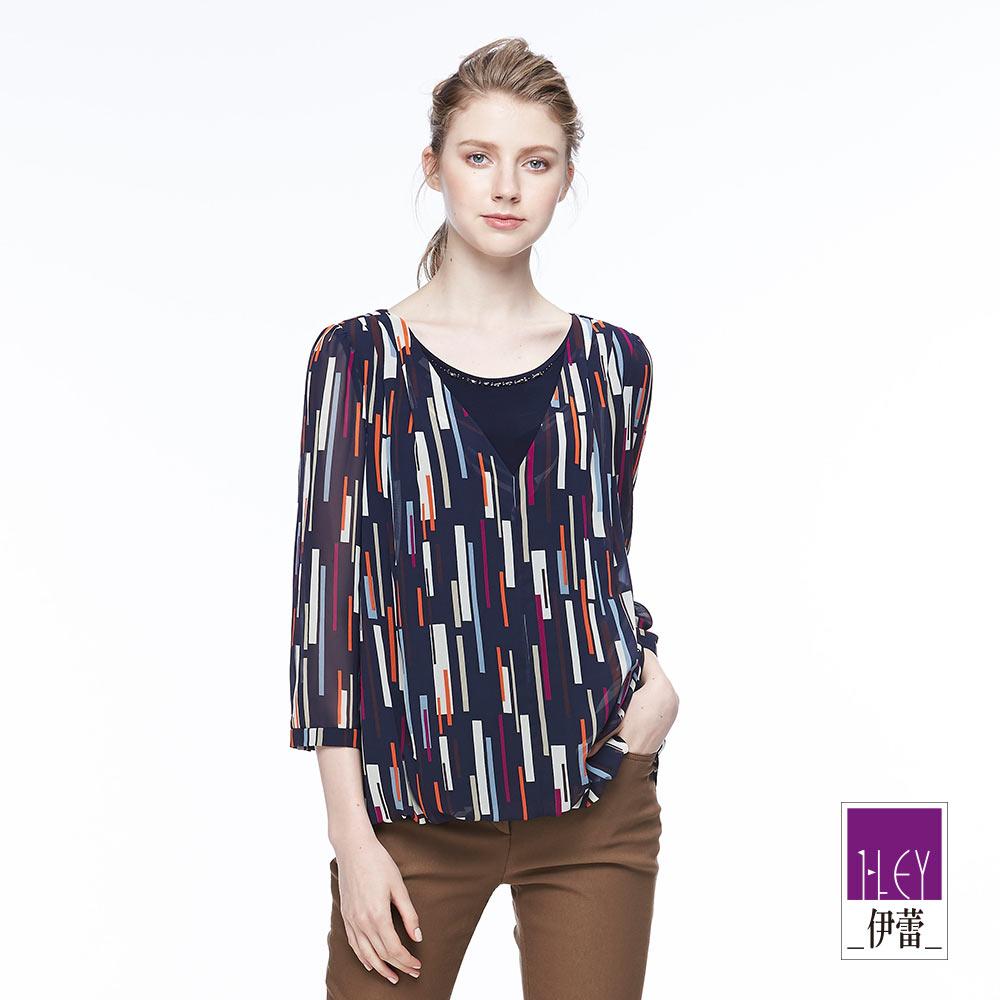 ILEY伊蕾 都會幾何上衣魅力價商品(藍)