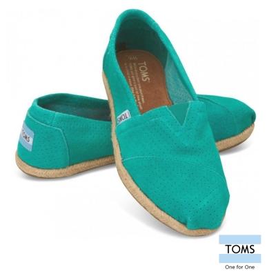 TOMS 網布藤邊懶人鞋-女款