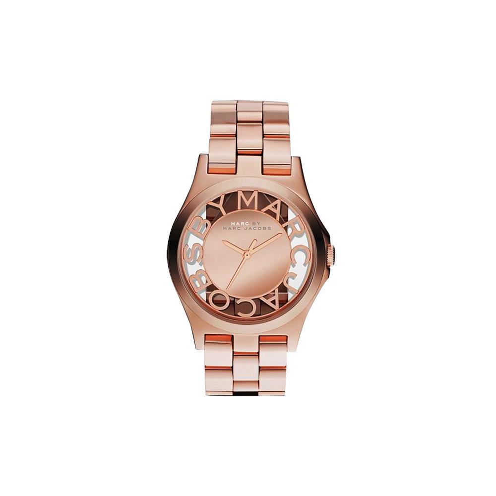Marc Jacobs 浮雕鏤空系列腕錶-玫塊金/39mm