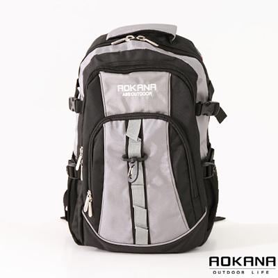 AOKANA奧卡納 - 多功能輕量防水護脊登山後背包68-017 - 灰
