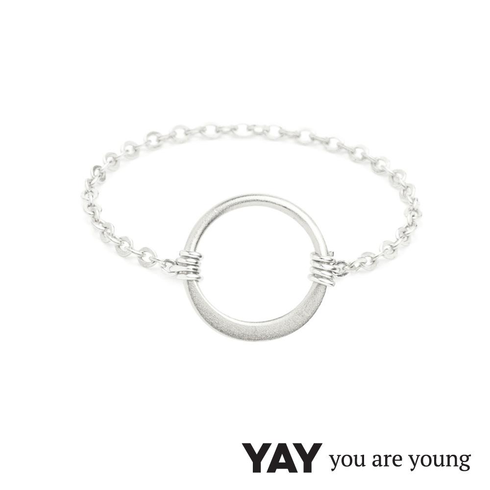 YAY You Are Young 法國品牌 Sultane 圓滿圈圈鍊戒 銀色