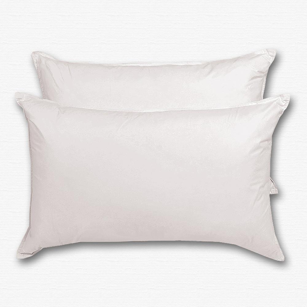 原色布屋純淨天然羽絨枕2入純白