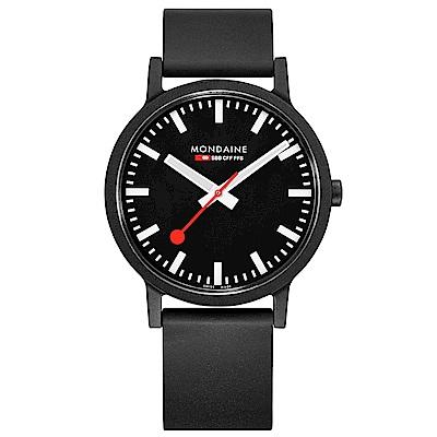 MONDAINE 瑞士國鐵essence系列腕錶-41mm/黑