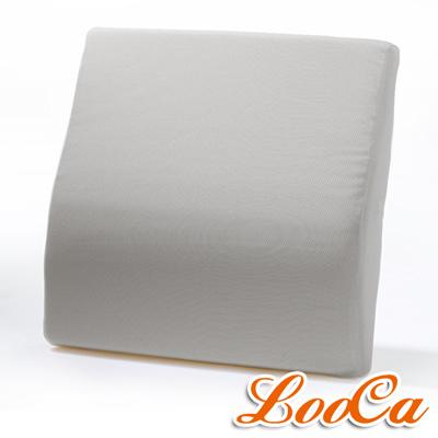 LooCa 吸濕排汗釋壓腰靠墊-灰
