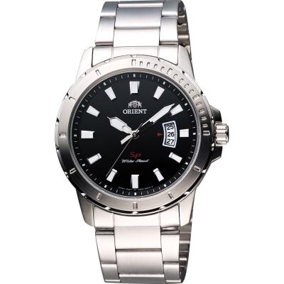 ORIENT SP極速運動石英腕錶-黑/ 41 mm