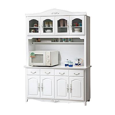 品家居 蘇珊娜5.3尺實木餐櫃組合-157.5x40x208cm免組