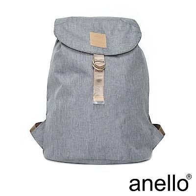 日本正版anello 高雅混色紋理 輕便型束口後背包 灰色 GY