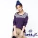 betty's貝蒂思  領部混色拼接兩件式上